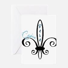 cajunbebe_blue.png Greeting Card