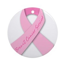 breast cancer survivor Ornament (Round)