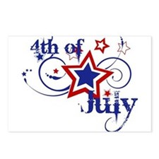 4th of July Designs Postcards (Package of 8)