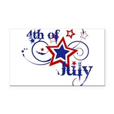 4th of July Designs Rectangle Car Magnet