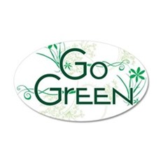 Go Green Design 20x12 Oval Wall Decal