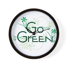 Go Green Design Wall Clock