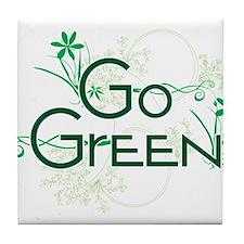 Go Green Design Tile Coaster