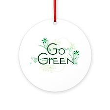 Go Green Design Ornament (Round)