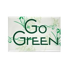 Go Green Design Rectangle Magnet