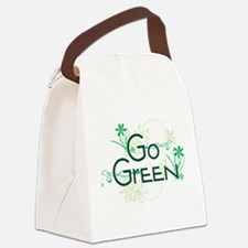 Go Green Design Canvas Lunch Bag