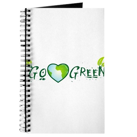 Go Green love earth Journal