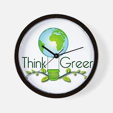 think_green.png Wall Clock
