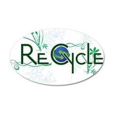 recycle.png 35x21 Oval Wall Decal