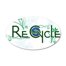 recycle.png 20x12 Oval Wall Decal