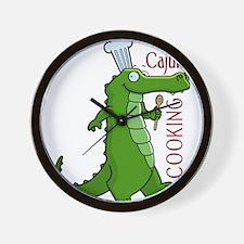 cajun_cooking.png Wall Clock