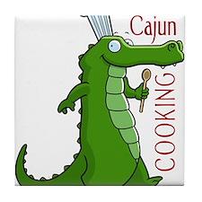 cajun_cooking.png Tile Coaster