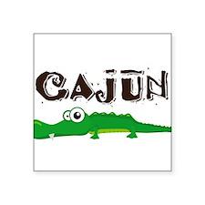 "Cajun_gator.png Square Sticker 3"" x 3"""