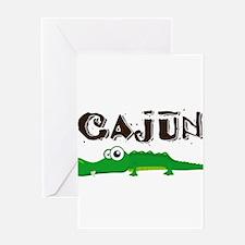 Cajun_gator.png Greeting Card