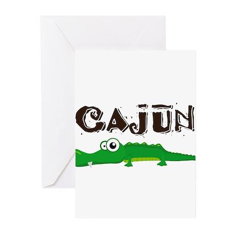 Cajun_gator.png Greeting Cards (Pk of 10)