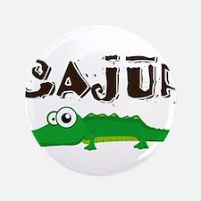 """Cajun_gator.png 3.5"""" Button"""