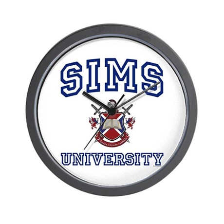 SIMS University Wall Clock