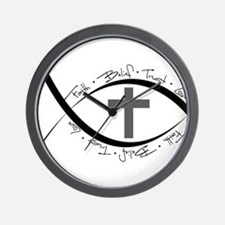 jesus fish.png Wall Clock