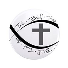 "jesus fish.png 3.5"" Button (100 pack)"