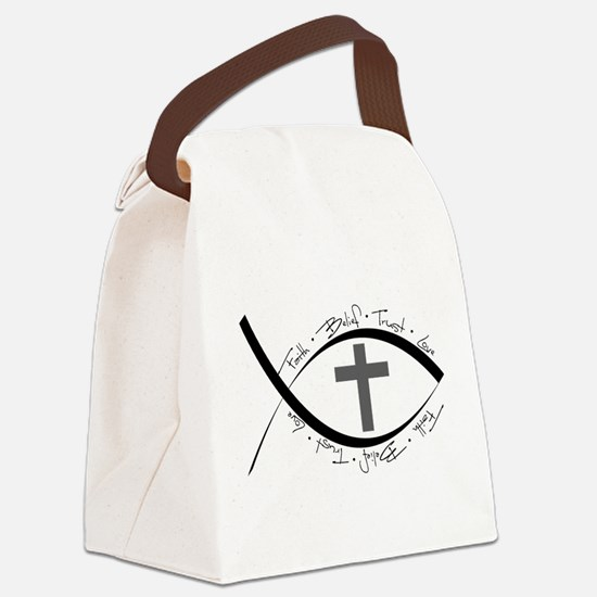 jesus fish.png Canvas Lunch Bag