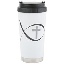 jesus fish_reverse.png Travel Coffee Mug