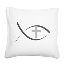 jesus fish_reverse.png Square Canvas Pillow