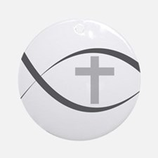 jesus fish_reverse.png Ornament (Round)