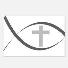 jesus fish_reverse.png Postcards (Package of 8)