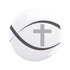 "jesus fish_reverse.png 3.5"" Button (100 pack)"