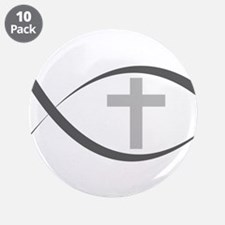 "jesus fish_reverse.png 3.5"" Button (10 pack)"