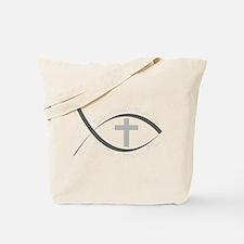 jesus fish_reverse.png Tote Bag