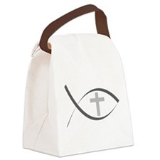 jesus fish_reverse.png Canvas Lunch Bag