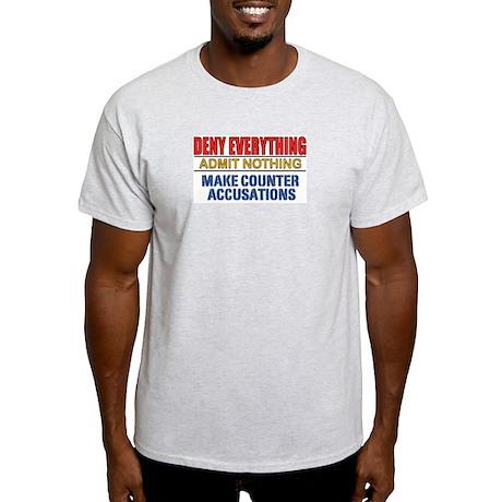 DENY EVERYTHING Ash Grey T-Shirt