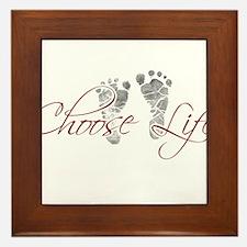 choos life.png Framed Tile