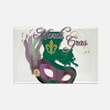 Mardi Gras Louisiana Rectangle Magnet (10 pack)