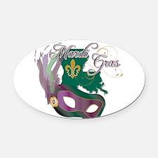 Mardi Gras Louisiana Oval Car Magnet