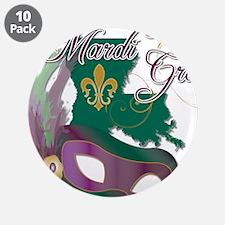"Mardi Gras Louisiana 3.5"" Button (10 pack)"