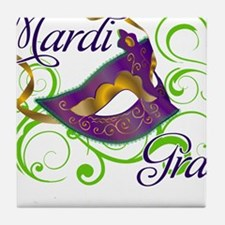 MardiGras.png Tile Coaster