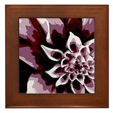Deep Purple Flower Framed Tile