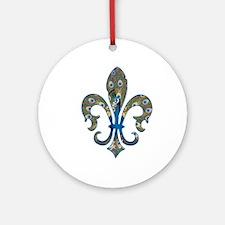 Peacock Fleur 1 Ornament (Round)
