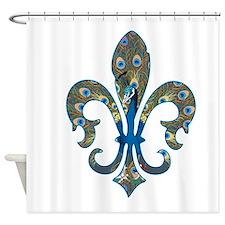 Peacock Fleur 1 Shower Curtain