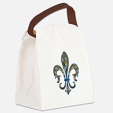 Peacock Fleur 1 Canvas Lunch Bag