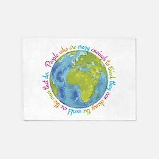 Change the world 5'x7'Area Rug