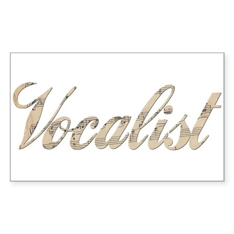 Vocalist Sticker (Rectangle)