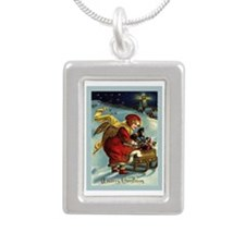 Christmas Card 2013 Silver Portrait Necklace