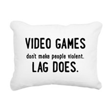 Video Game Lag Rectangular Canvas Pillow