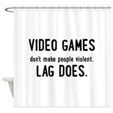 Video Game Lag Shower Curtain