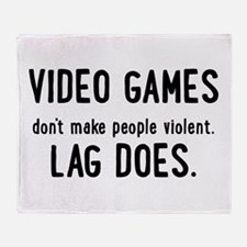 Video Game Lag Throw Blanket