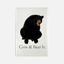 grin & bear it Rectangle Magnet