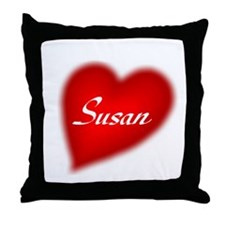 I love Susan products Throw Pillow